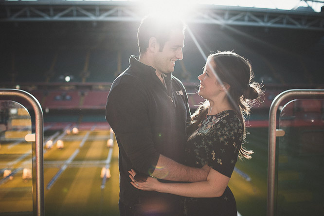 Natalie & Andy | Millenium Stadium Cardiff  | Engagement Shoot
