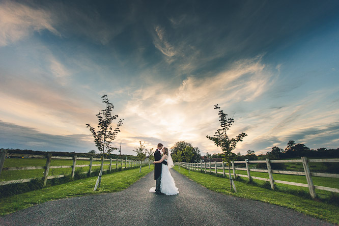Wick farm wedding photo