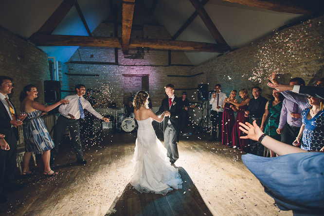 cool wedding dance floor photo at wick farm near bath