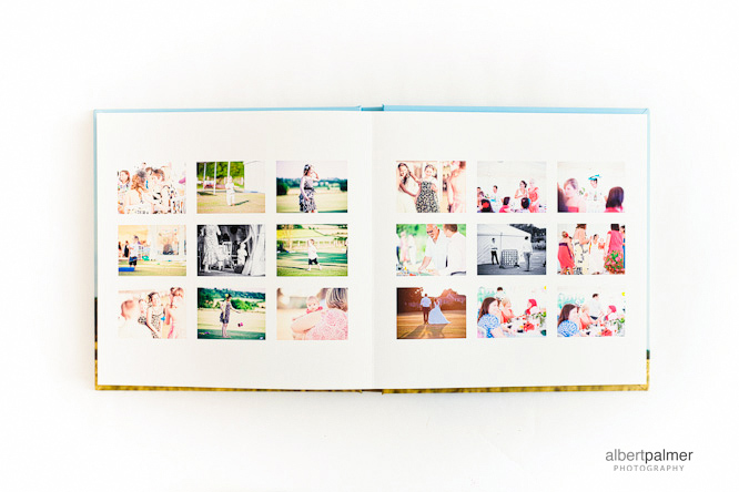 spread of thumbnail images in my sample wedding album
