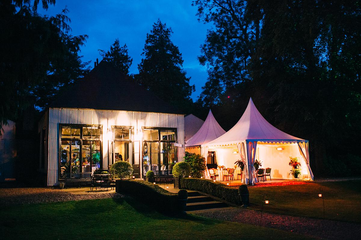 larmer tree gardens wedding venue at night