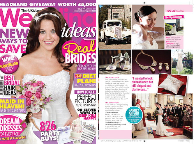 Sarah & John In Wedding Ideas Magazine