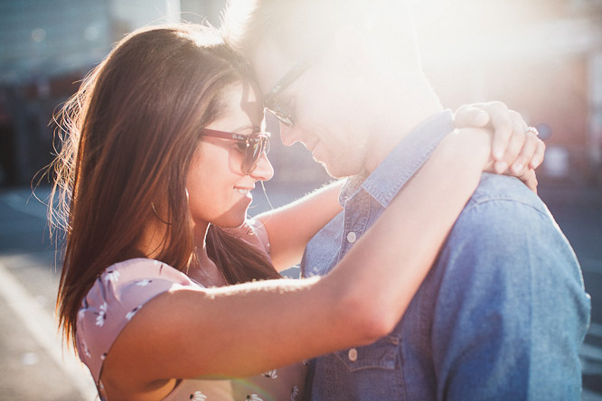 colourful engagement shoot photos in the sunshine
