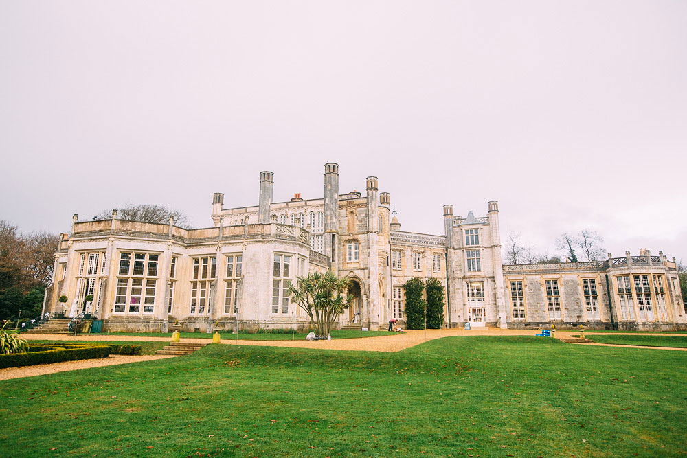 Highcliffe Castle Wedding from the outside