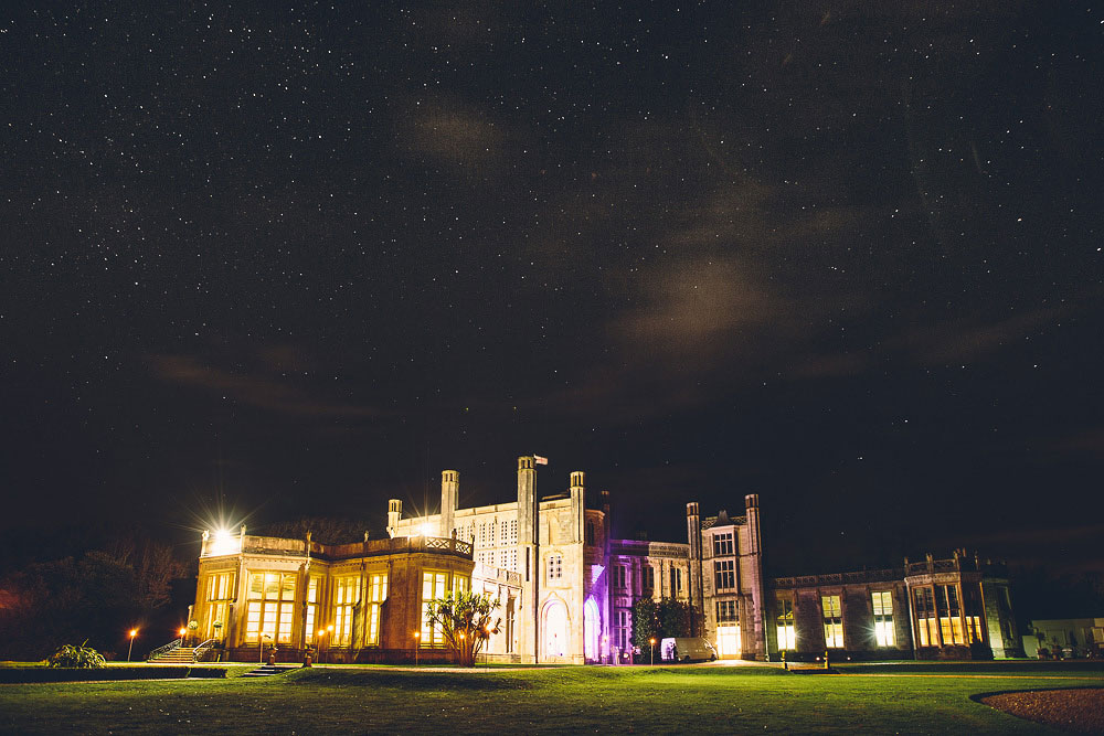 Highcliffe Castle at night
