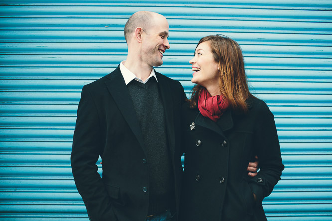 sarah and euan laughing on their beloved photography session
