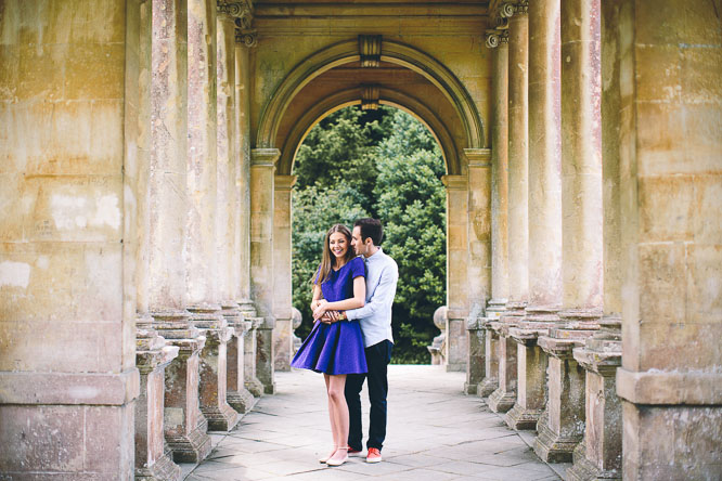 Engagement Photographs Bath in Prior Park