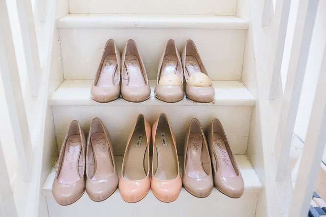 shoes with potatoes in wedding trick and tip!