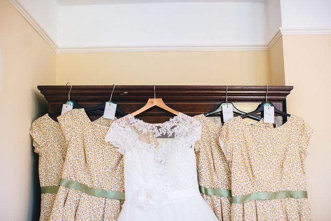 cool vintage yellow bridesmaid dresses