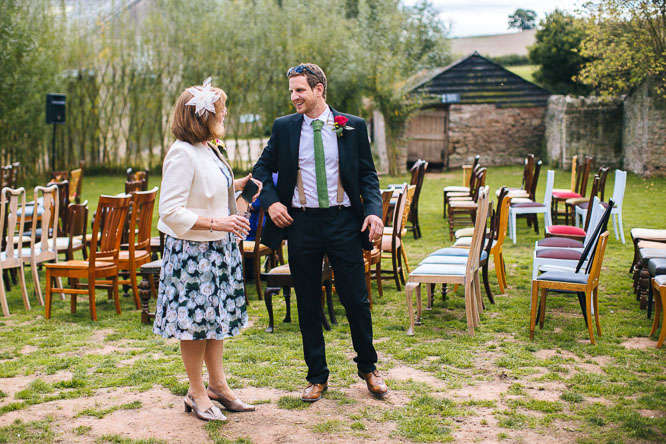 Outside wedding at Lyde Court