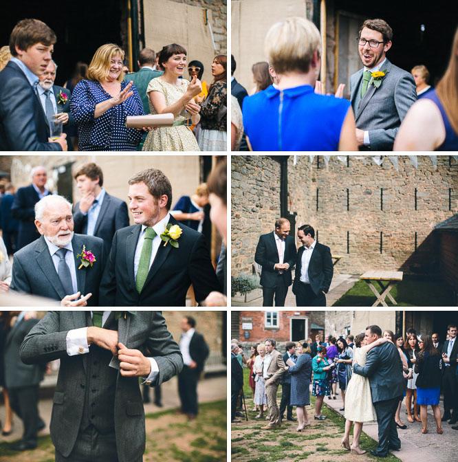 reportage wedding photos of guests