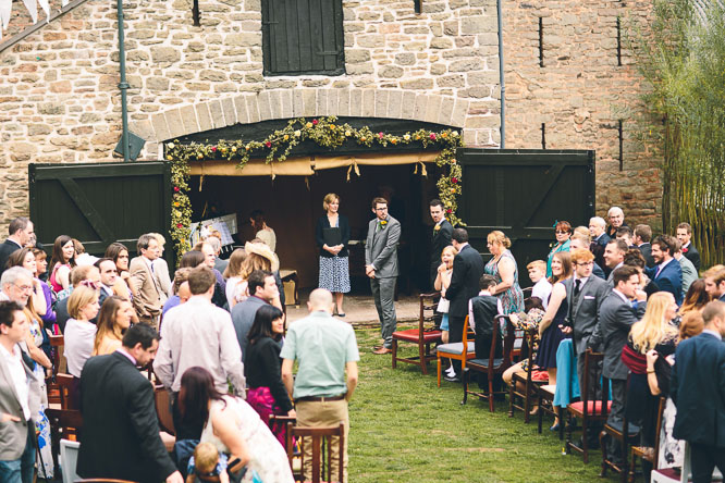 hereford wedding venue outside ceremony