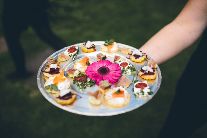 Lyde Court wedding food