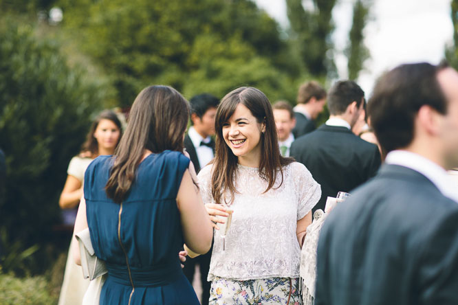 wedding guests celebrating at Lyde Court