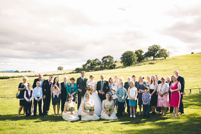 family wedding photo at Lyde Court