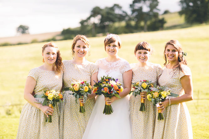 countryside bridesmaids dresses