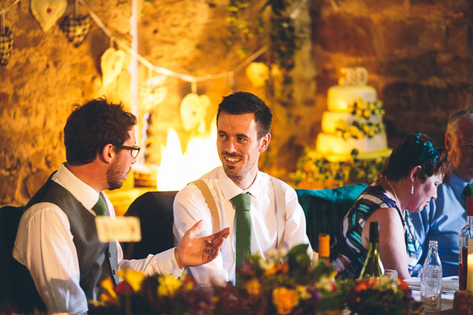 guests relaxing at Lyde Court wedding