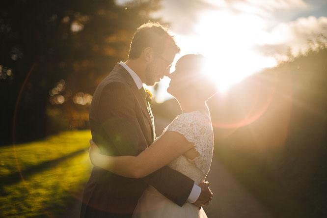wedding photo flare
