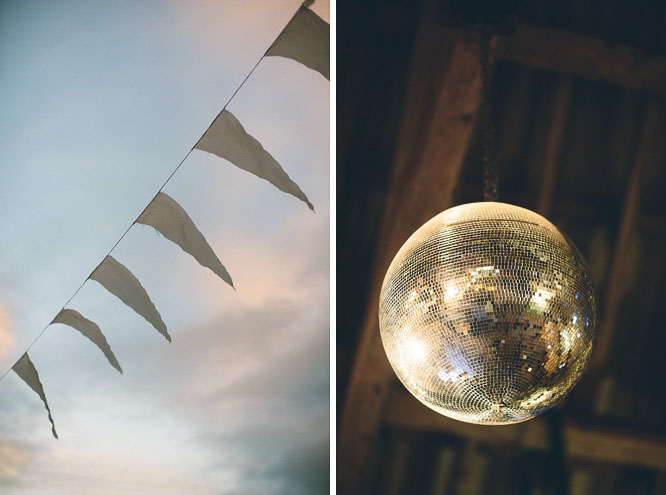 disco ball at a wedding