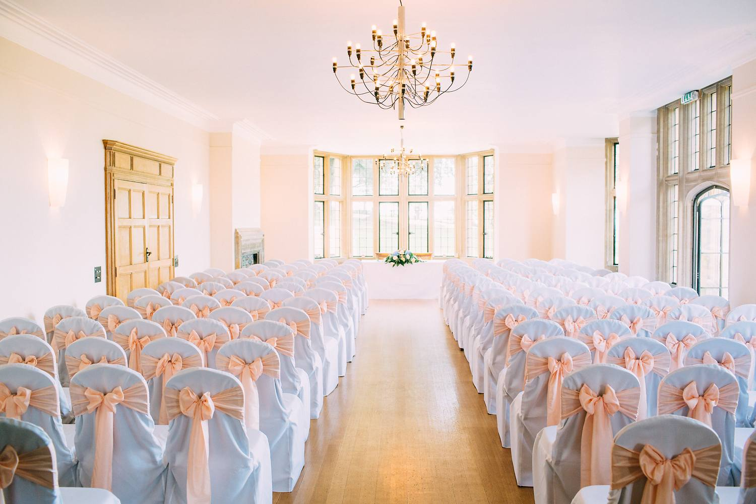 inside coombe lodge wedding ceremony