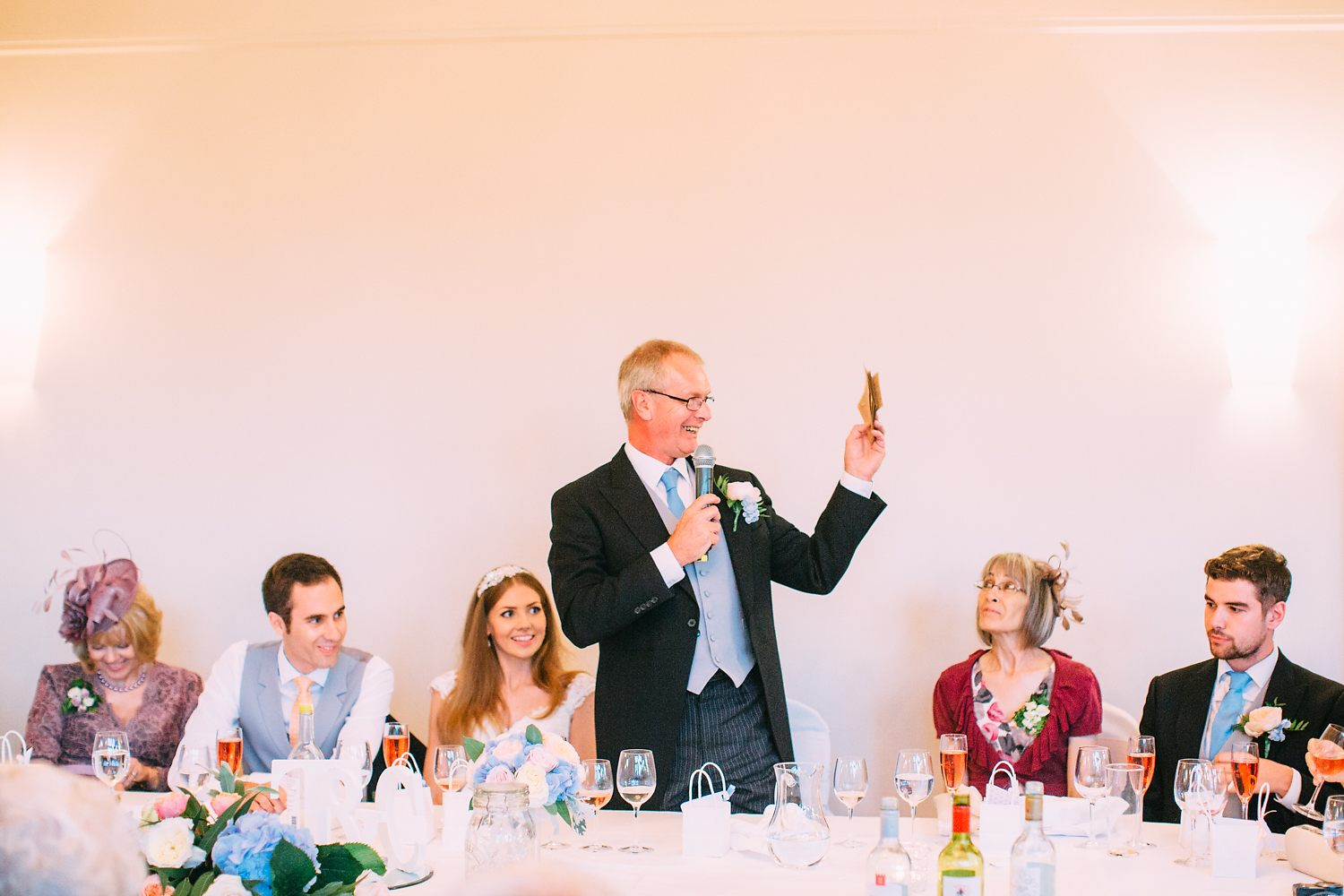 father of the bride making a speech