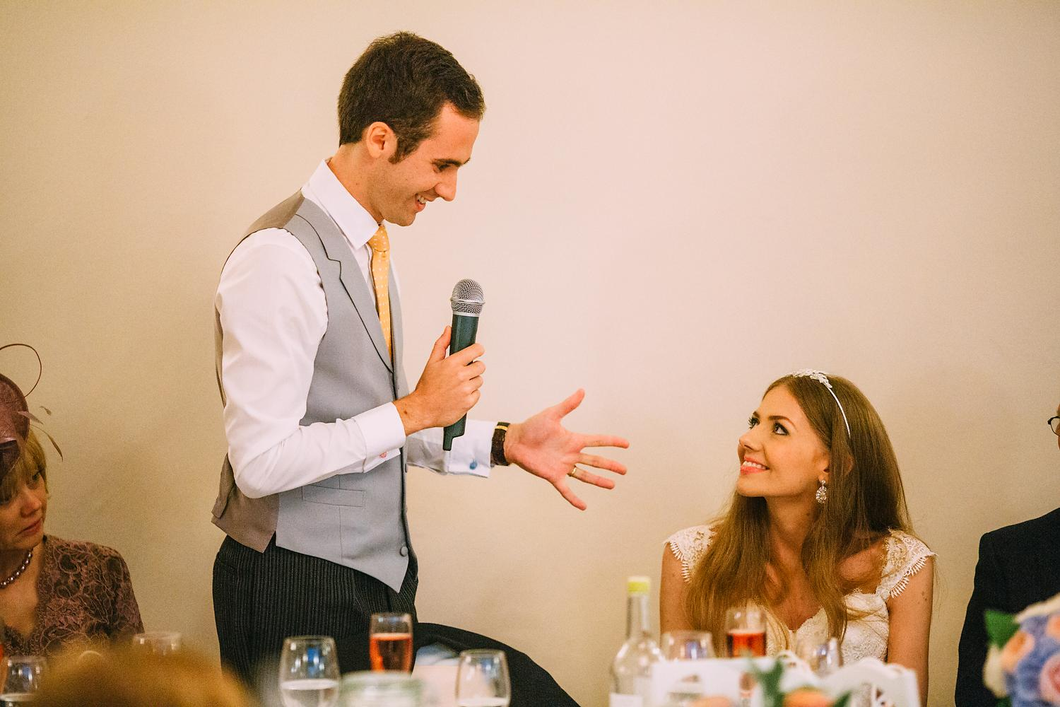 groom making a speech