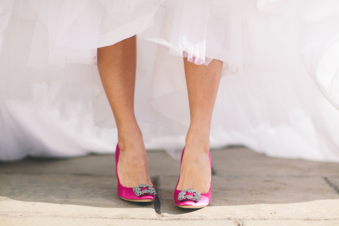manolo blank pink wedding shoes