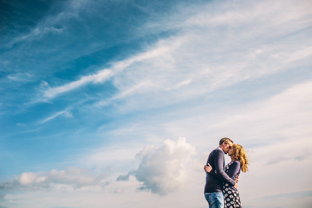 beach engagement shoot croyde