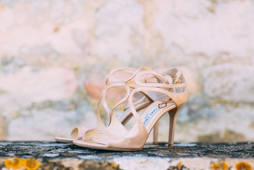 Jimmy Choo nude wedding shoes