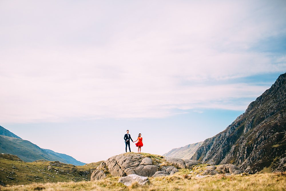 engagement shoot snowdon