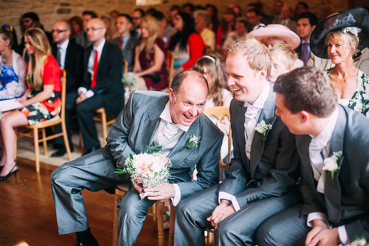 documentary wedding photos Kingscote Barn