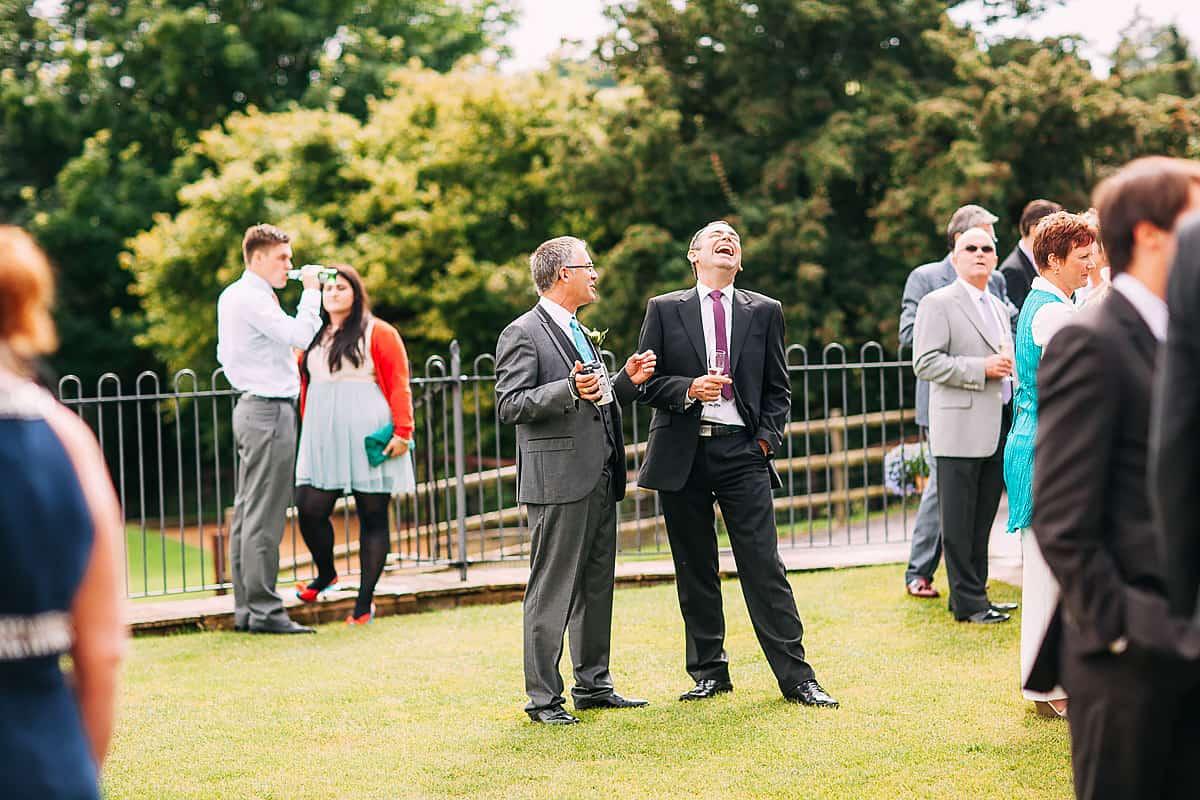 Natural wedding photos at Kingscote Barn