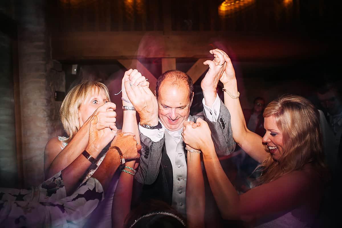 party photo at wedding