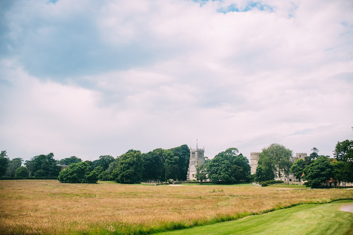 lulworth castle landscape photo