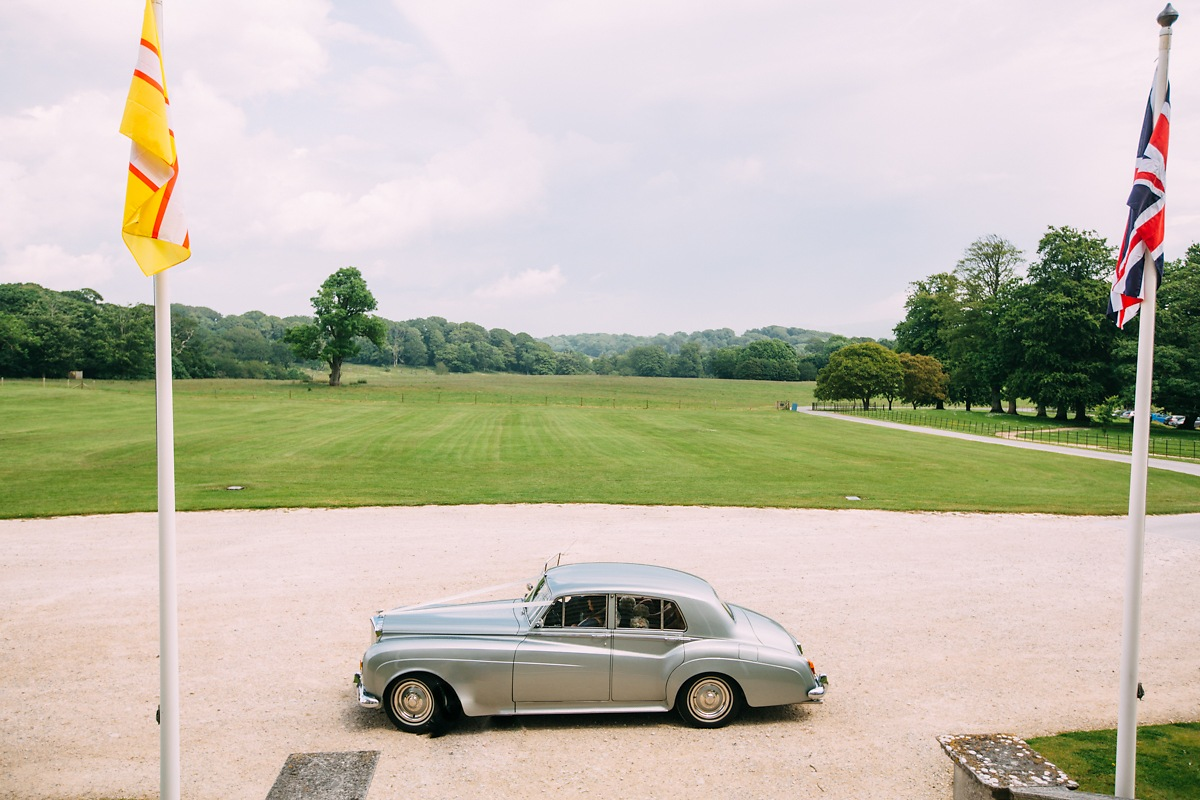 lulworth castle wedding car