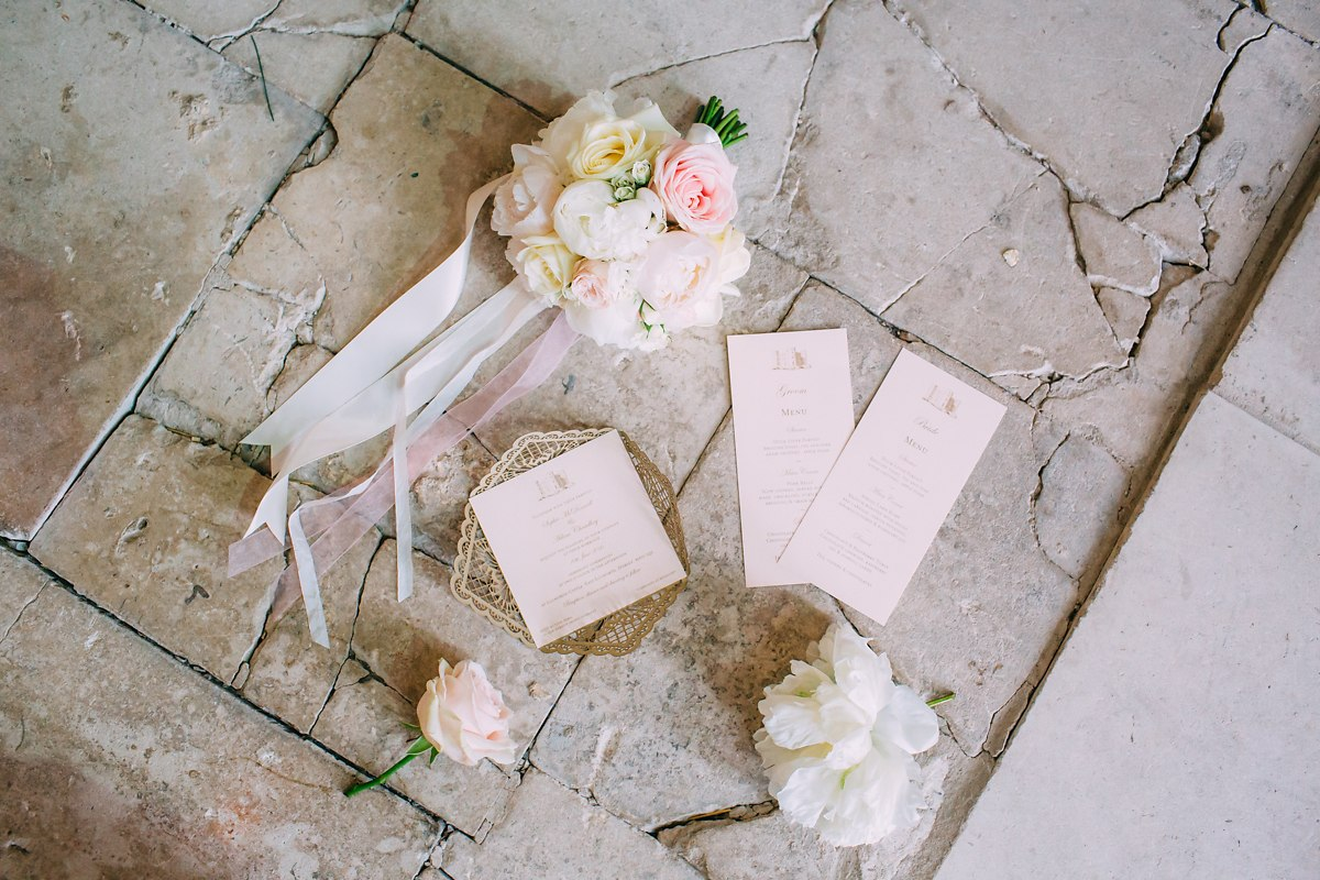 lulworth castle wedding stationery