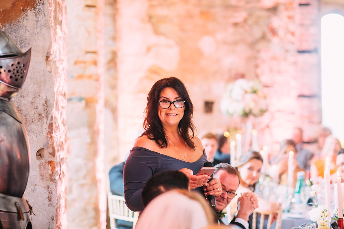 mother of the bride speech at Lulworth Castle wedding