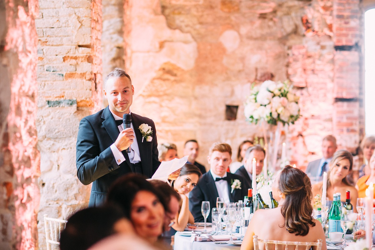 speech at Lulworth Castle wedding