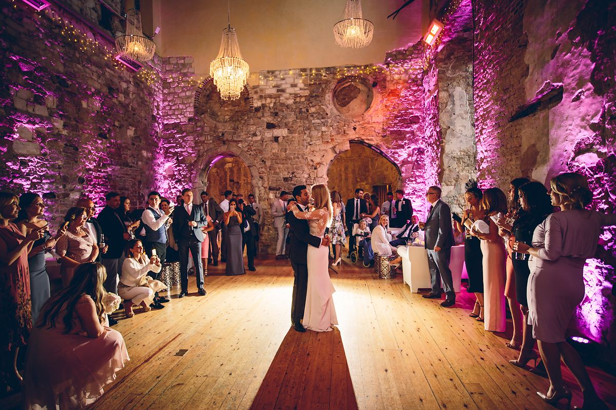 first dance at Lulworth Castle wedding