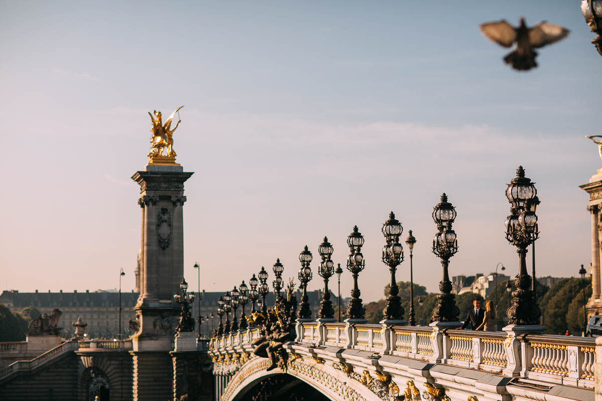 parisian bridge photo shoot