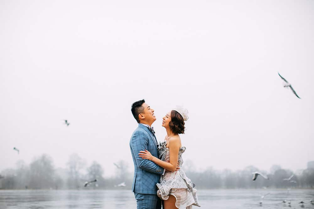 winter pre wedding photography London