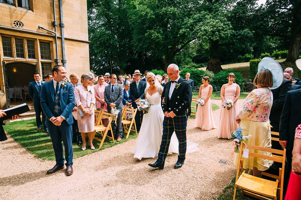 Outdoor Wedding Ceremony Coombe Lodge