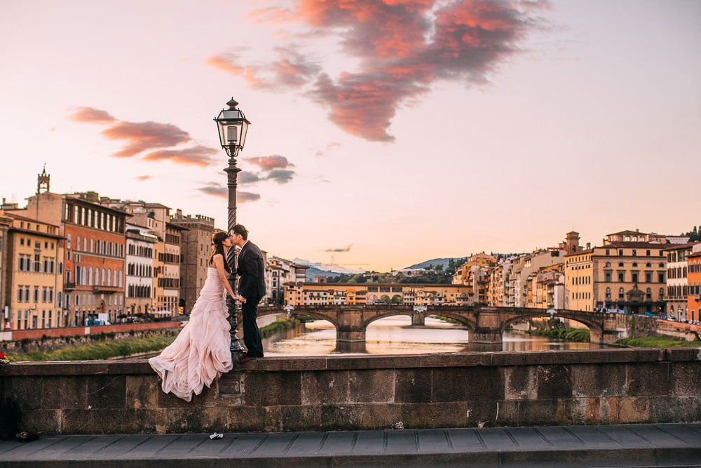 Pre Wedding Shoot Florence ponte vecchio