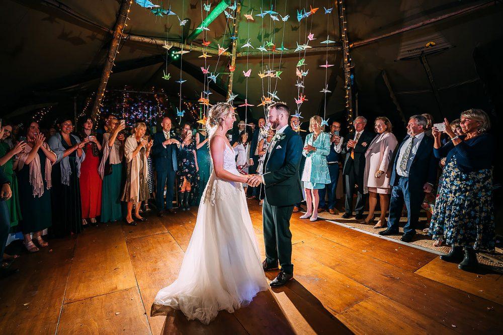 Tipi Wedding Photography First Dance