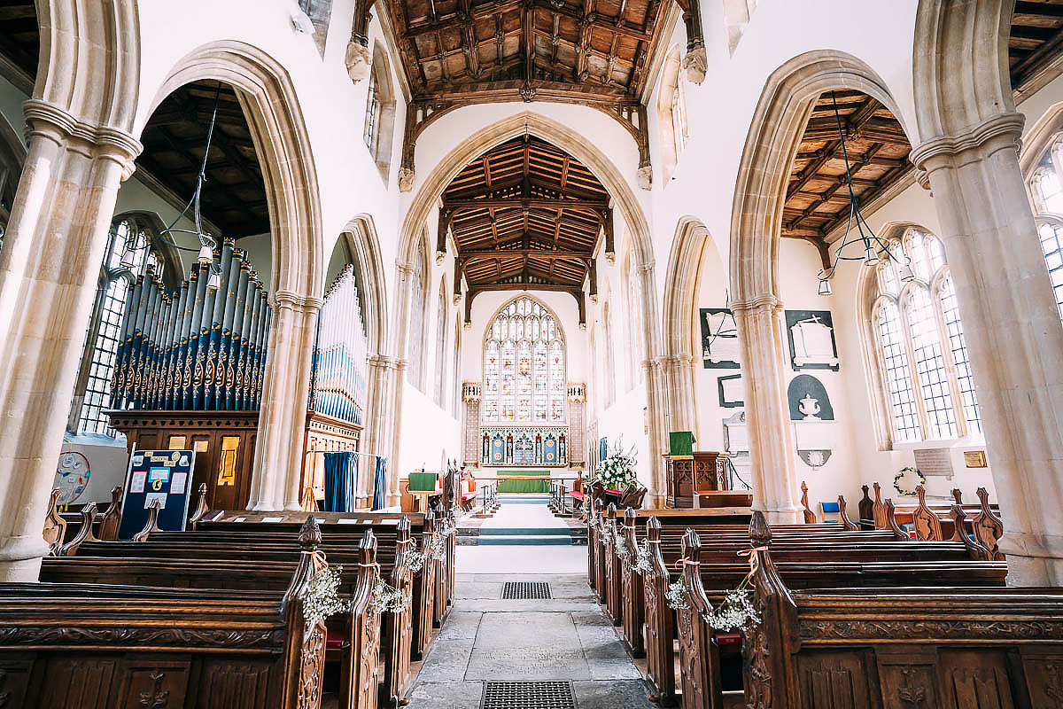 inside the church at North Cadbury Court