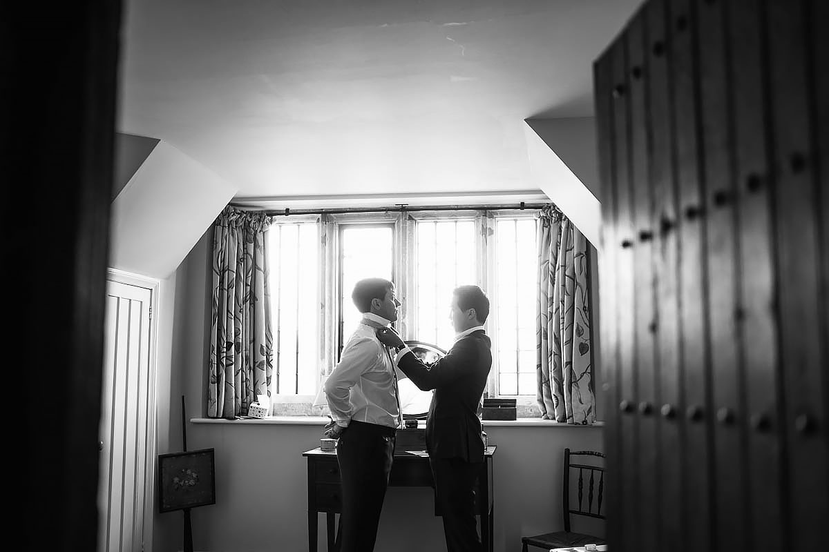 groom getting ready at North Cadbury Court