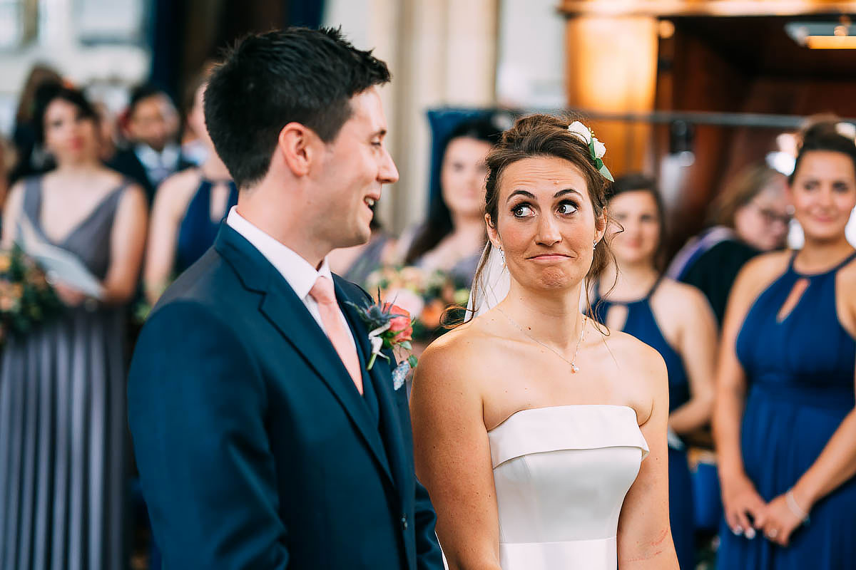 funny expressions of bride