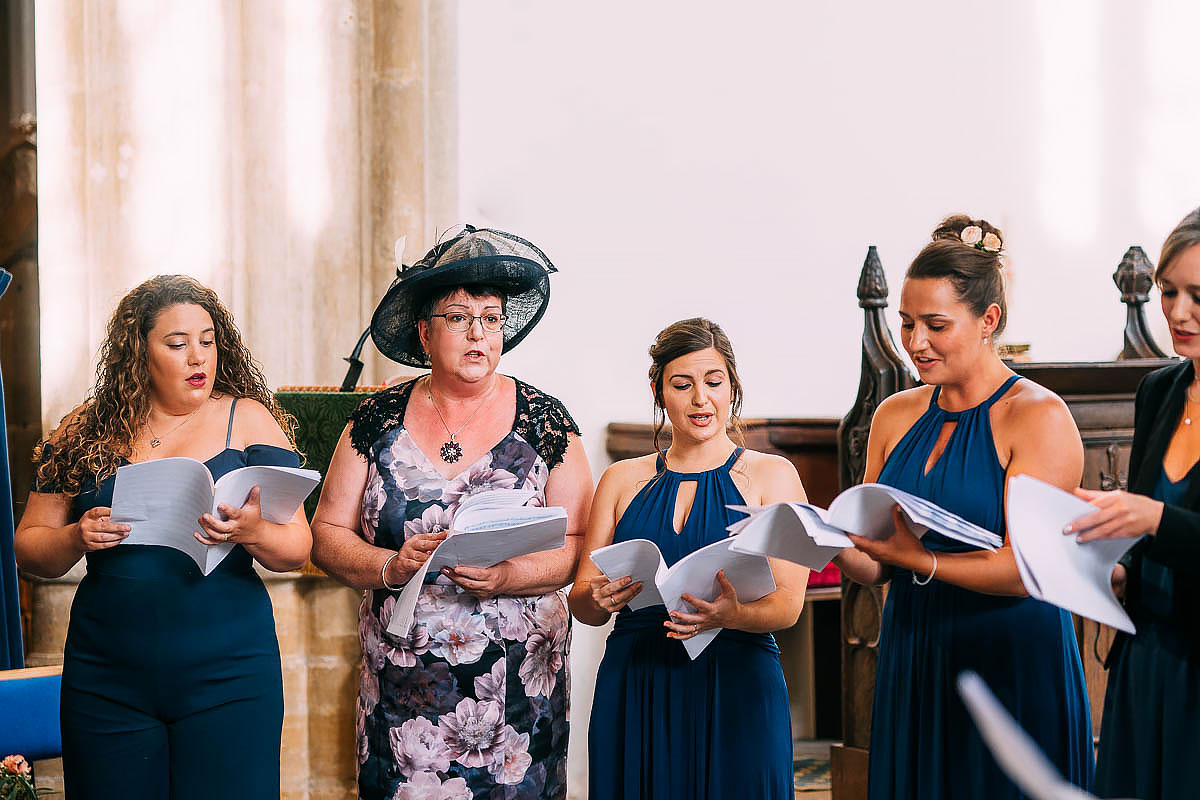 choir at North Cadbury Court wedding