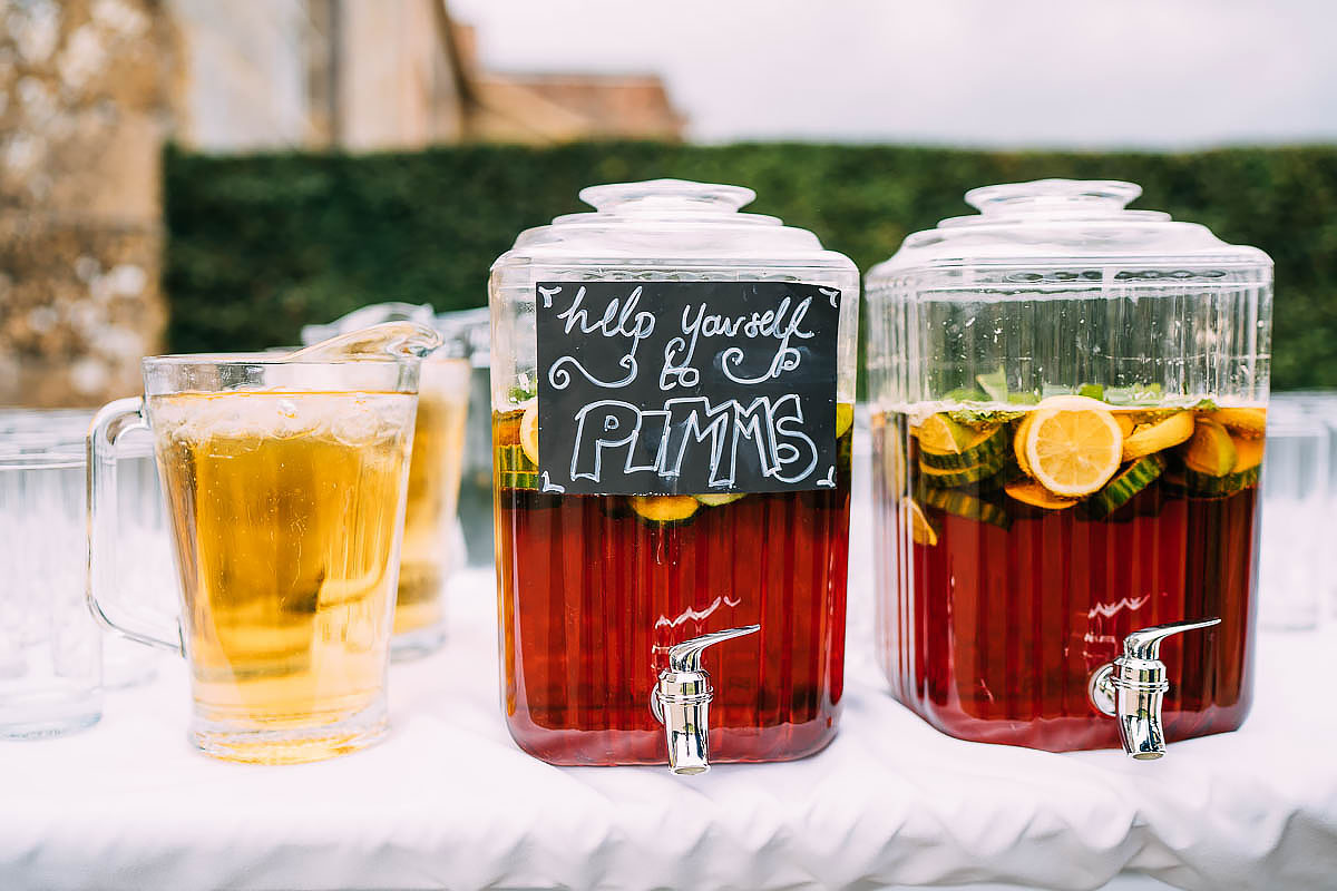 pimms at wedding