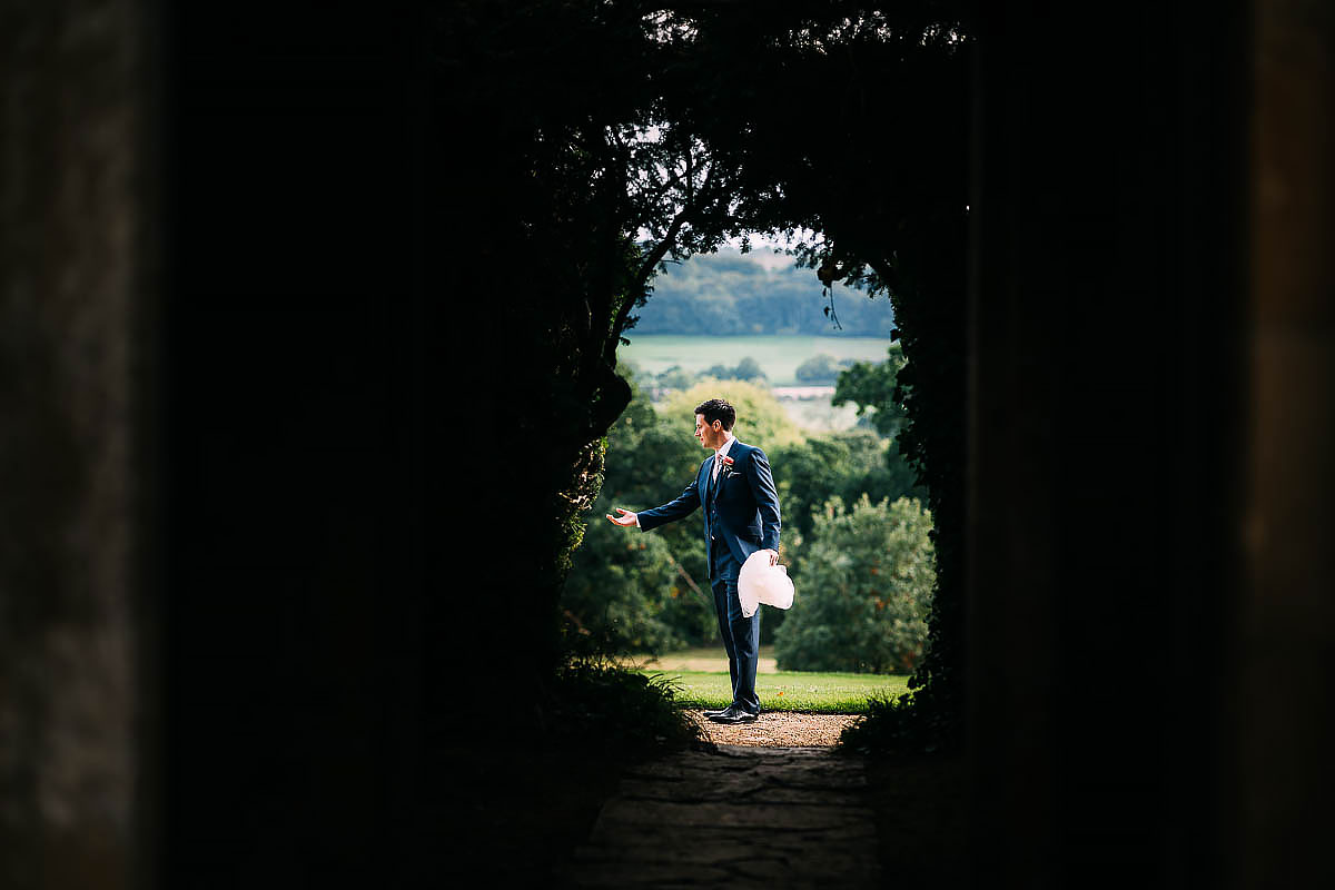 creative wedding photography at North Cadbury Court
